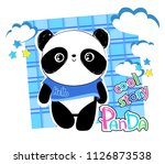 cute panda bear  vector... | Shutterstock .eps vector #1126873538