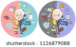 a set of old men who perform... | Shutterstock .eps vector #1126879088