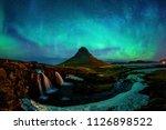 northern light  aurora borealis ... | Shutterstock . vector #1126898522