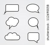white speech bubbles | Shutterstock .eps vector #112690058
