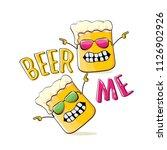 beer me vector concept...   Shutterstock .eps vector #1126902926