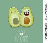 funny cartoon cute green... | Shutterstock .eps vector #1126905038
