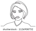 continuous line drawing of... | Shutterstock .eps vector #1126908752