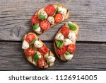 grilled sandwich with... | Shutterstock . vector #1126914005