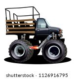 cartoon monster truck.... | Shutterstock .eps vector #1126916795