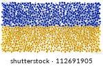 ukraine flag of precious stones ... | Shutterstock . vector #112691905