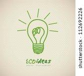 sketch of green light bulb ...   Shutterstock .eps vector #112692226