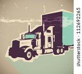 Big Truck Illustration. Vector...