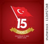 turkish holiday demokrasi ve... | Shutterstock .eps vector #1126927268