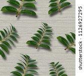 seamless seam of the wallpaper. ... | Shutterstock . vector #1126927295