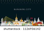 bangkok in thailand and... | Shutterstock .eps vector #1126936142