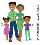 african american family... | Shutterstock .eps vector #112694338