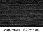 black brick wall texture  brick ... | Shutterstock . vector #1126944188