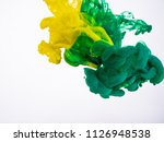 two droplets of acrylic ink... | Shutterstock . vector #1126948538