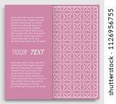 card  invitation  cover...   Shutterstock .eps vector #1126956755