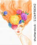summer time. fashion... | Shutterstock . vector #1126958342