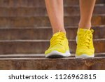 close up of man's running shoes ... | Shutterstock . vector #1126962815