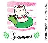 vector cartoon style flyer t... | Shutterstock .eps vector #1126963352