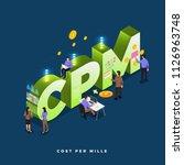 business concept teamwork of... | Shutterstock .eps vector #1126963748