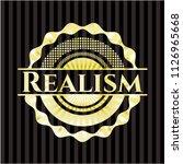 realism golden badge | Shutterstock .eps vector #1126965668