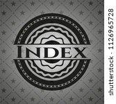 index realistic black emblem | Shutterstock .eps vector #1126965728