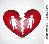Illustration Of A Broken Heart  ...