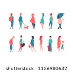 vector set of stylized people... | Shutterstock .eps vector #1126980632