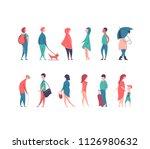 vector set of stylized people... | Shutterstock .eps vector #1126980632