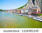 scenic dinant and the river... | Shutterstock . vector #1126981145