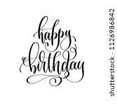 happy birthday   holiday banner ... | Shutterstock .eps vector #1126986842