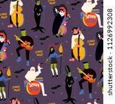 various spooky music artists.... | Shutterstock .eps vector #1126992308