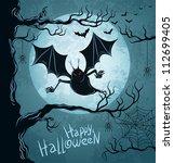 grungy halloween background... | Shutterstock .eps vector #112699405