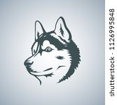 siberian husky head vector...   Shutterstock .eps vector #1126995848