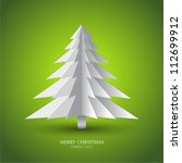 simple vector christmas tree... | Shutterstock .eps vector #112699912