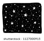 hand drawn backdrop with stars... | Shutterstock .eps vector #1127000915