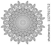 coloring book pages. mandala.... | Shutterstock . vector #1127011712