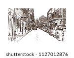 the french quarter  historic... | Shutterstock .eps vector #1127012876