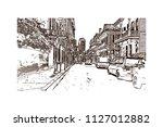 the french quarter  historic... | Shutterstock .eps vector #1127012882