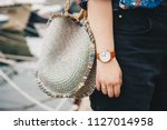 street style fashion details.... | Shutterstock . vector #1127014958