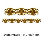 golden  ornamental segment  ... | Shutterstock . vector #1127024486