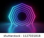 3d render  ultraviolet neon... | Shutterstock . vector #1127031818