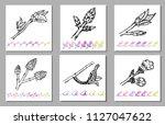 vector set of kidney bud black... | Shutterstock .eps vector #1127047622