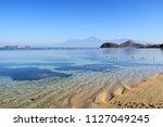 clear transparent ocean water... | Shutterstock . vector #1127049245