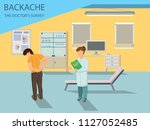 doctor examines patient with... | Shutterstock .eps vector #1127052485