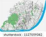 lisbon  portugal street network ... | Shutterstock .eps vector #1127059382