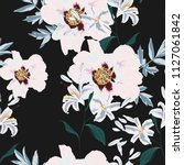 floral seamless pattern with... | Shutterstock .eps vector #1127061842