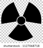 vector radiation active hazard... | Shutterstock .eps vector #1127068718