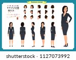 business casual fashion. front  ... | Shutterstock .eps vector #1127073992
