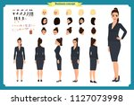 business casual fashion. front  ... | Shutterstock .eps vector #1127073998