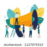 vector illustration  flat style ... | Shutterstock .eps vector #1127075315